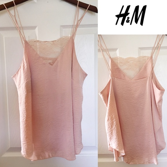 aa21b2fc069d55 H M Tops - 🌸H M🌸 Womens Satin Lace Camisole Top